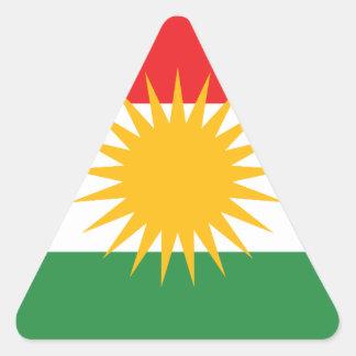 Adesivo Triangular Bandeira do Curdistão; Curdo; Curdo