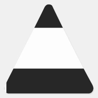 Adesivo Triangular Bandeira incorporada do logotipo