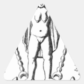 Adesivo Triangular Baphomet adiantado