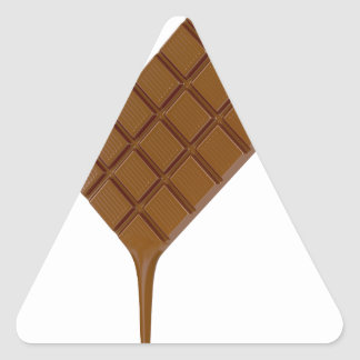 Adesivo Triangular Bar de chocolate derretido