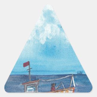 Adesivo Triangular Barco de pesca
