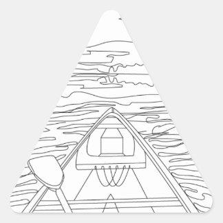 Adesivo Triangular Barco no lago