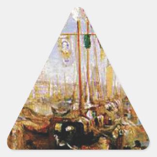 Adesivo Triangular barco sem velas