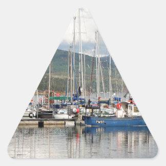 Adesivo Triangular Barcos em Kyleakin, ilha de Skye, Scotland