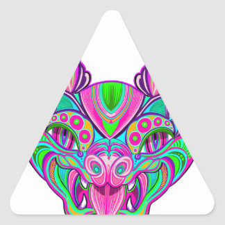 Adesivo Triangular Bastão psicadélico do arco-íris