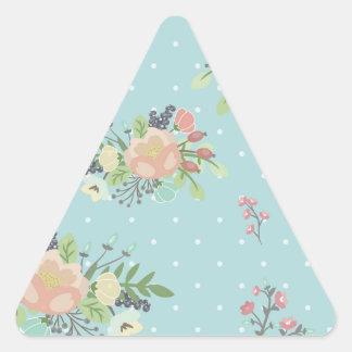 Adesivo Triangular Beauty seamless floral pattern