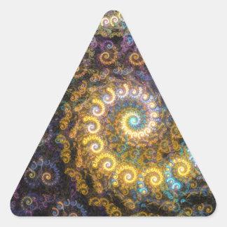 Adesivo Triangular Beleza do fractal do nautilus