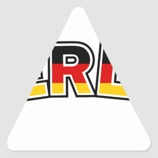 Adesivo Triangular Berlin, text with Germany flag colors