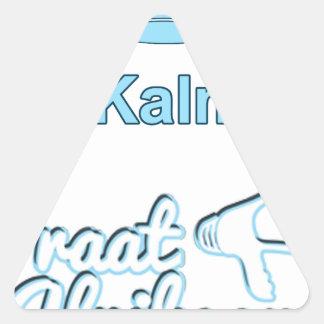 Adesivo Triangular Bly-Kalm-En-Praat-Holandês sul-africano