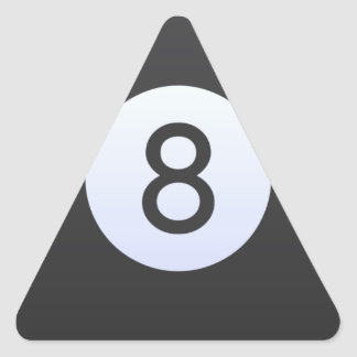 Adesivo Triangular Bola 8