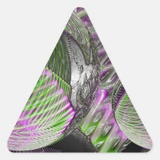 Adesivo Triangular Bola de cristal no plástico
