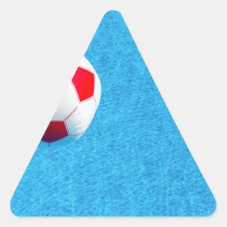 Adesivo Triangular bola de praia Vermelho-branca que flutua na