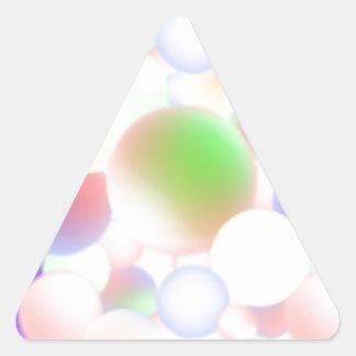 Adesivo Triangular Bolas do borrão