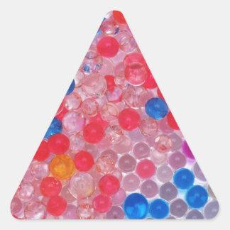 Adesivo Triangular bolas transparentes da água