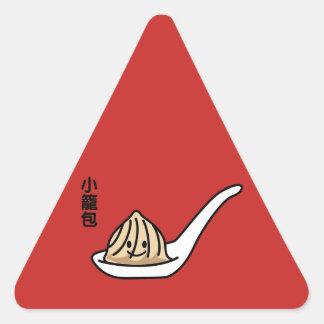 Adesivo Triangular Bolo chinês de Dim Sum da bolinha de massa da sopa