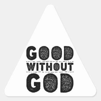 Adesivo Triangular Bom sem deus