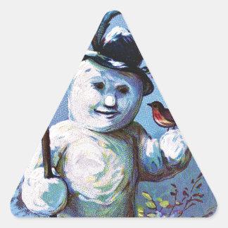 Adesivo Triangular Boneco de neve -