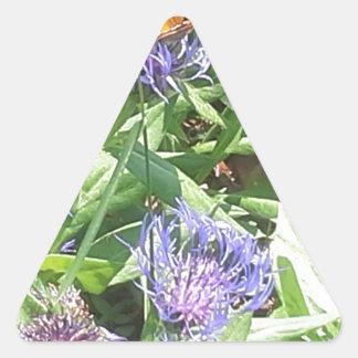 Adesivo Triangular Borboleta em Coneflower roxo