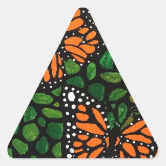 Adesivo Triangular borboletas