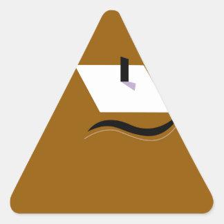 Adesivo Triangular Branco home do ouro do design