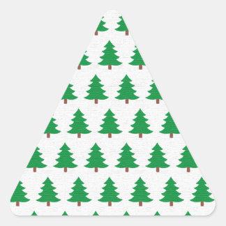 Adesivo Triangular branco novo do verde do design do Natal
