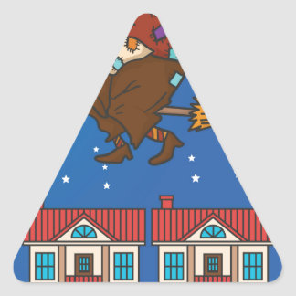 Adesivo Triangular bruxa Befana do xmas