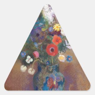 Adesivo Triangular Buquê das flores - Odilon Redon
