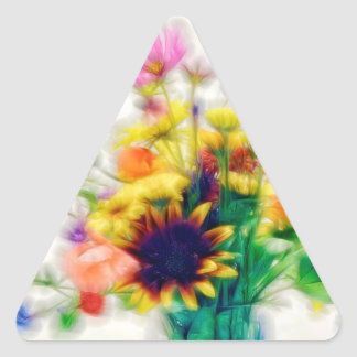 Adesivo Triangular Buquê do Wildflower do verão