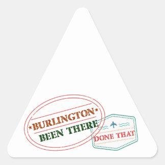 Adesivo Triangular Burlington feito lá isso