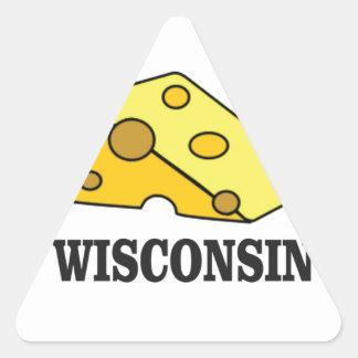 Adesivo Triangular Cabeça do queijo de Wisconsin