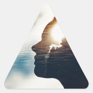 Adesivo Triangular Cabeça leve