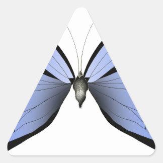 Adesivo Triangular Caçador azul do Azure da borboleta 2
