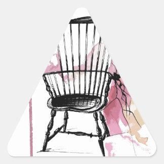 Adesivo Triangular Cadeira de Windsor
