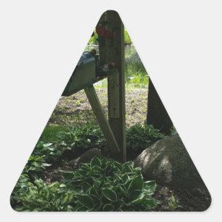 Adesivo Triangular Caixa postal pela lagoa