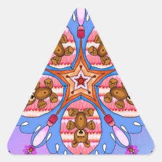 Adesivo Triangular Caleidoscópio dos ursos e das abelhas