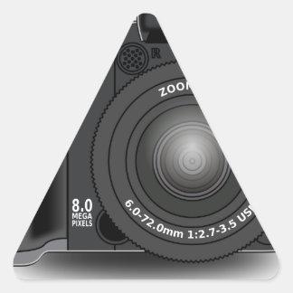 Adesivo Triangular Câmara digital