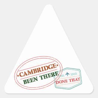 Adesivo Triangular Cambridge feito lá isso
