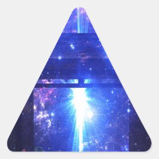 Adesivo Triangular Caminho iridescente a em qualquer lugar