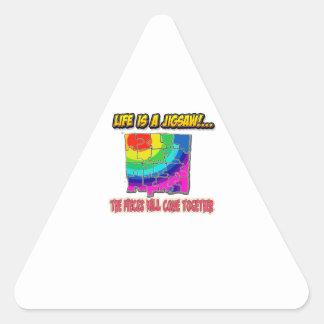 Adesivo Triangular camisa da serra de vaivém