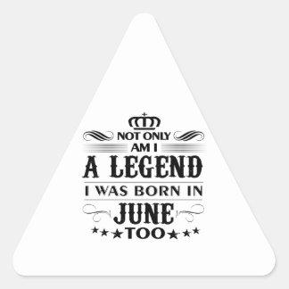 Adesivo Triangular Camiseta das legendas do mês de junho