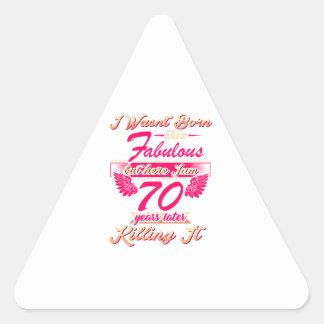 Adesivo Triangular camiseta do partido do presente de aniversário do
