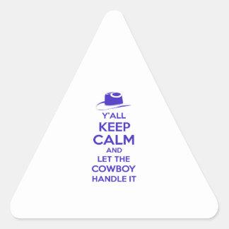 Adesivo Triangular Camisetas do Texan
