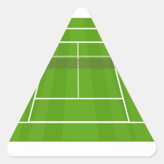 Adesivo Triangular Campo de ténis