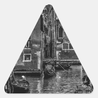 Adesivo Triangular Canal do barco da gôndola de Veneza Italia