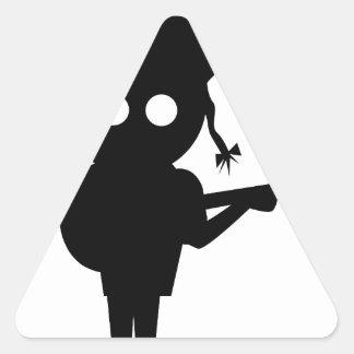 Adesivo Triangular Cantor de solo