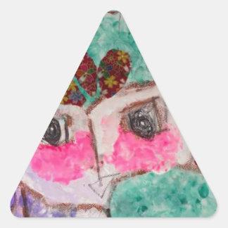 Adesivo Triangular Cara do drama dos desenhos animados