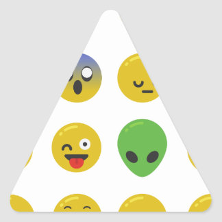 Adesivo Triangular Cara feliz de Emoji