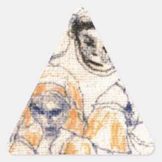 Adesivo Triangular Caras