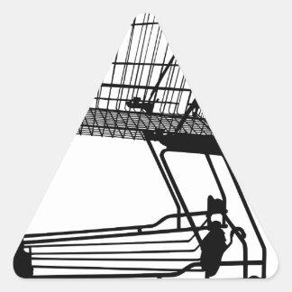 Adesivo Triangular Carrinho de compras