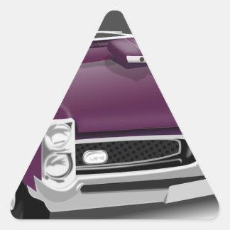 Adesivo Triangular Carro de esportes clássico